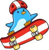 Vettore del pattinatore del pinguino Fotografia Stock