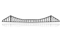 Vettore del ponticello di traghetto della ferrovia illustrazione vettoriale