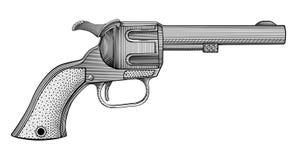Vettore del revolver Fotografia Stock Libera da Diritti