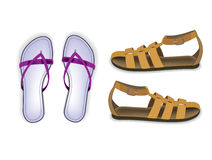 Vettore del sandalo e del pistone Immagine Stock