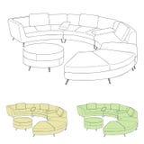 Vettore del sofà illustrazione vettoriale