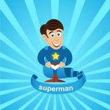 vettore del superman  Fotografia Stock Libera da Diritti