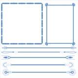 Vettore del telaio e della linea decorativi immagine stock