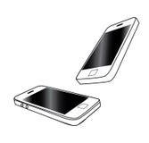 Vettore del telefono cellulare isolato su bianco Fotografia Stock Libera da Diritti