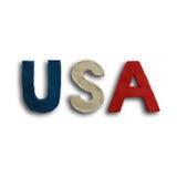 Vettore del testo di parola di U.S.A. Fotografia Stock