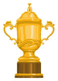 Vettore del trofeo dell'oro Immagini Stock