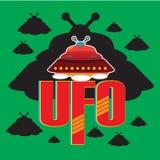 Vettore del UFO Fotografia Stock Libera da Diritti