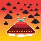 Vettore del UFO Immagini Stock Libere da Diritti