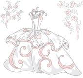 Vettore del vestito da sposa Fotografia Stock Libera da Diritti
