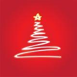Vettore dell'albero di Natale Immagine Stock