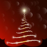 Vettore dell'albero di Natale Fotografia Stock