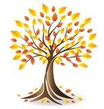 Vettore dell'albero di stagione di caduta di Logo Ecology illustrazione vettoriale