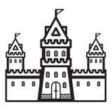 Vettore dell'annata del castello Fotografie Stock Libere da Diritti