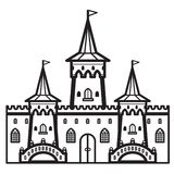Vettore dell'annata del castello Immagini Stock Libere da Diritti