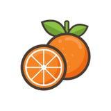 Vettore dell'arancia del fumetto Fotografia Stock Libera da Diritti