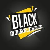 Vettore dell'autoadesivo di vendita di Black Friday Immagini Stock Libere da Diritti
