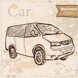 Vettore dell'automobile disegnato a mano Illustrazione Vettoriale