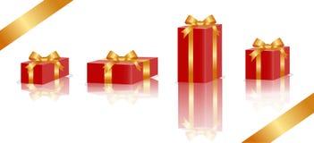Vettore dell'elemento del contenitore di regalo Immagine Stock