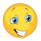 Vettore dell'emoticon illustrazione sorridente sveglia di vettore di emoji illustrazione di stock