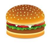 Vettore dell'hamburger Fotografia Stock