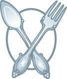 Vettore dell'icona del cucchiaio e della forchetta royalty illustrazione gratis
