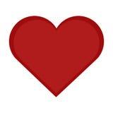 Vettore dell'icona del cuore Fotografia Stock