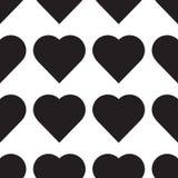 Vettore dell'icona del cuore Simbolo perfetto di amore Emblema del segno del cuore isolato su fondo bianco Modello senza cuciture illustrazione di stock