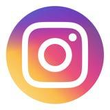 Vettore dell'icona del giro di Instagram illustrazione di stock