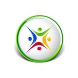 Vettore dell'icona del modello di logo della gente cinque Immagini Stock Libere da Diritti