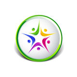 Vettore dell'icona del modello di logo della gente cinque Fotografie Stock Libere da Diritti