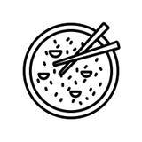 Vettore dell'icona del riso isolato su fondo bianco, segno del riso royalty illustrazione gratis