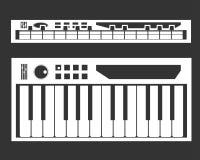 Vettore dell'icona del sintetizzatore illustrazione vettoriale