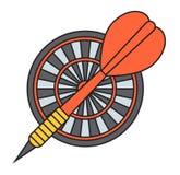 Vettore dell'icona dell'obiettivo dei dardi illustrazione vettoriale