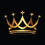 Vettore dell'icona dell'oro della corona Immagini Stock