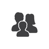 Vettore dell'icona della famiglia, segno piano riempito illustrazione vettoriale