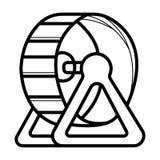 Vettore dell'icona della palla del criceto illustrazione di stock