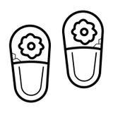 Vettore dell'icona delle pantofole illustrazione vettoriale