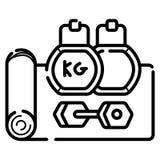 Vettore dell'icona di forma fisica royalty illustrazione gratis