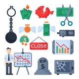 Vettore dell'icona di investimento di progettazione di finanza del settore bancario di economia di problema di concetto di simbol Fotografia Stock Libera da Diritti