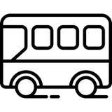 Vettore dell'icona di vista laterale del bus royalty illustrazione gratis