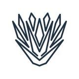 Vettore dell'icona dell'yucca isolato su fondo bianco, segno dell'yucca royalty illustrazione gratis