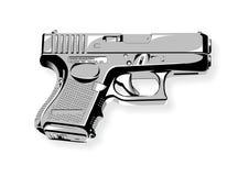 Vettore dell'illustrazione del glock 26 della pistola fotografia stock