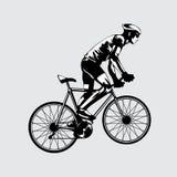Vettore dell'illustrazione della bicicletta Fotografia Stock