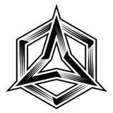 vettore dell'illustrazione di esagono della stella del triangolo del poligono Immagine Stock Libera da Diritti