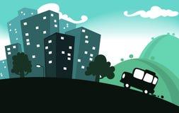 Vettore dell'illustrazione di viaggio della città illustrazione di stock