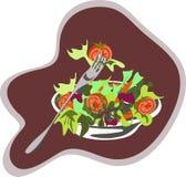 Vettore dell'insalata verde Fotografia Stock Libera da Diritti