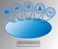 Vettore dell'insegna di Infographic Fotografia Stock Libera da Diritti
