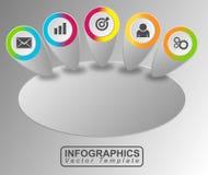 Vettore dell'insegna di Infographic Fotografie Stock Libere da Diritti