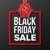 Vettore dell'insegna di vendita di Black Friday Vettore Illustrazione di pubblicità di affari Progettazione per il web, aletta di Fotografia Stock