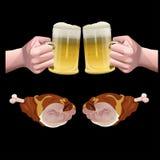 Vettore dell'insieme della birra illustrazione vettoriale